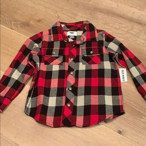 4T Flannel long sleeved Shirt